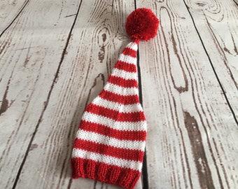 Baby Stocking Hat - Baby Stocking Cap - Valentines Hat - Baby Valentine Hat - Knit Baby Hat - Baby Photo Prop - Valentines Day - Baby Shower