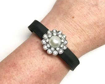 Fitband Bling Fitness Band Charm - Flowers & Diamonds - for Fitbit Flex 2, Alta, Jawbone UP2, UP3