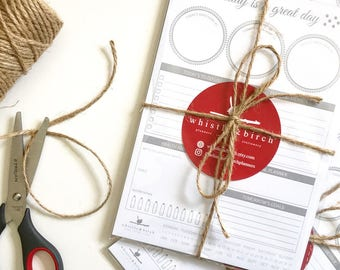 A5 Daily Planning Notepad - Whistle & Birch - Daily Planner