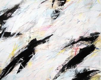 3-2-12 b, Black Series 2012 (black, abstract, white, cream)