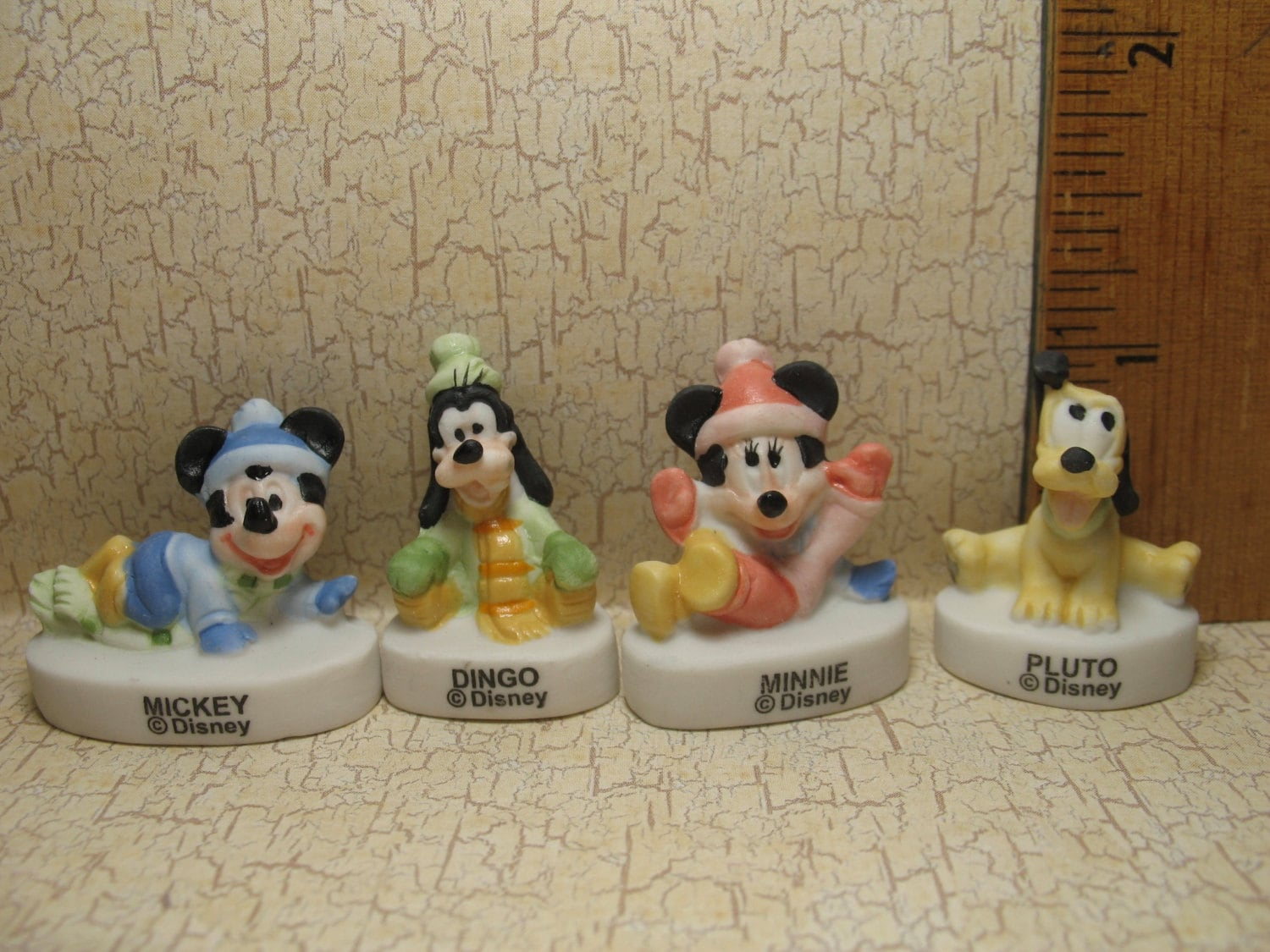 DISNEY Baby Mickey Mouse Minnie Pluto Goofy - French Feve Feves ...
