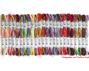 DMC Coloris Variegated 6 Strand Floss - 1 each of all 24 NEW colors