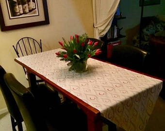 Red and Silver Table Runner, Home & Living Holiday Table Decorations!