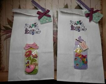EASTER GIFT BAGS,Easter Bunny Gift Bags,Easter Candy Bags,Treat Bags,Easter Gift Wrapping,Easter Food Bags,White Easter Gift Bags