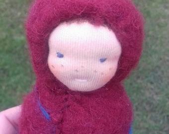 Waldorf cocoon doll.