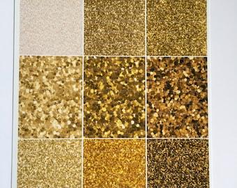 Gold Glitter Headers: L24