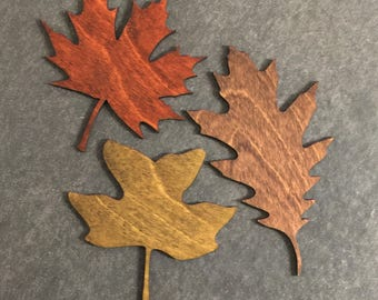 Stained Laser Cut Fall Leaves