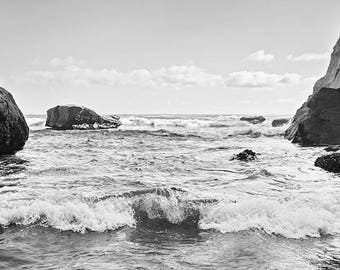 Beach photo print: Oregon coast, pacific ocean, home decor, wall hanging, photo print, oregon gift, west coast, ocean waves, gifts for him