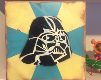 Blue and White Vader