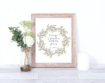 Lord of the Rings, Tolkien quote, Frodo, Wall art,wreath, flowers, hobbit, gandalf