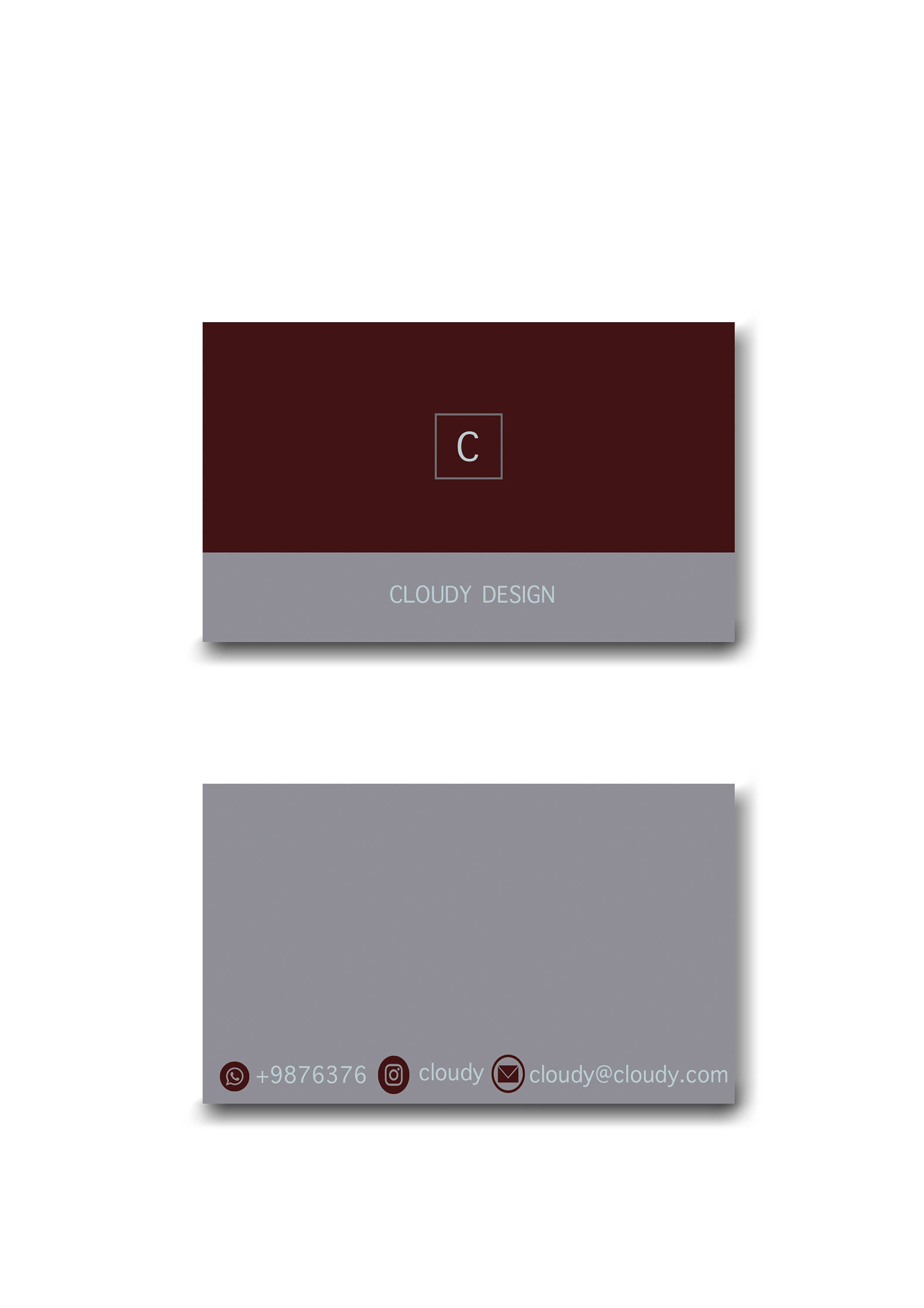 Simple business card business cards template minimal zoom flashek Gallery