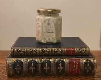 The Gardens of Fontainebleau: Blackberry, Freesia & Pear - Literature Lover Natural Scented Soy Candle - Outlander - Diana Gabaldon