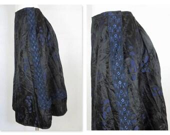 Vintage Victorian Silk Walking Skirt, Wearable Size, Bustle, Lined for Winter