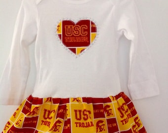 University of Southern California Inspired Infant Dress
