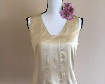 VIntage gold silk blouse