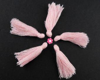 x 10 30mm pink tassels (294D)