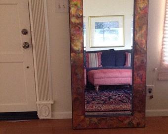 Custom Color Copper Wood Frame Mirror