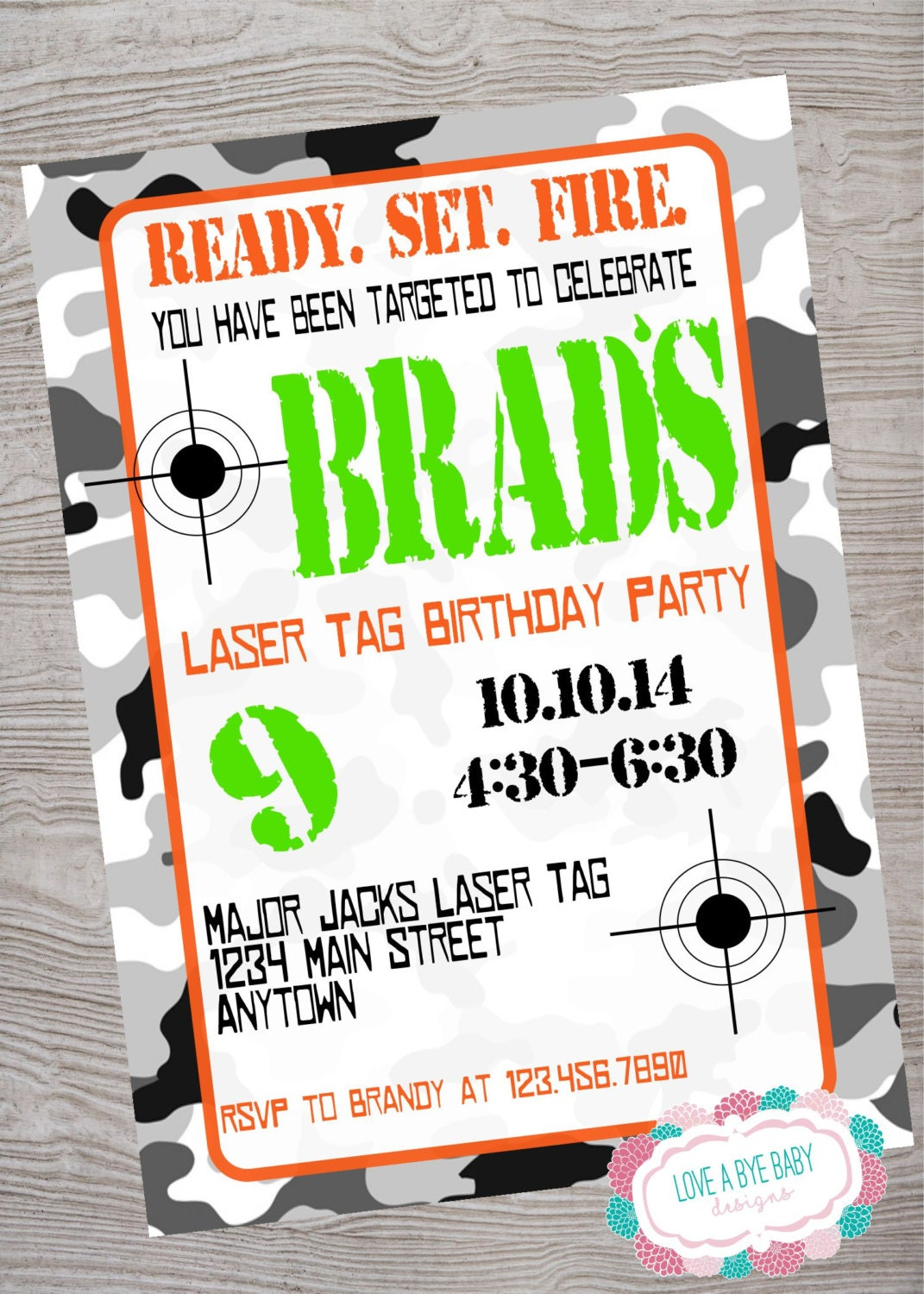 It is an image of Gutsy Laser Tag Birthday Invitations Free Printable