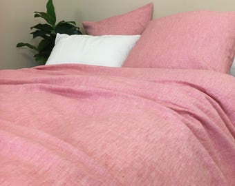 Chambray Rose Linen Duvet Cover, Niceeeee!
