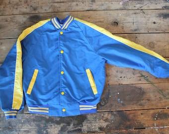 Vintage Baseball Jacket | Rare | Blank | Small | XS | Petite