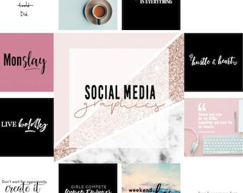 Social Media Graphics Bundle for the Girlboss!