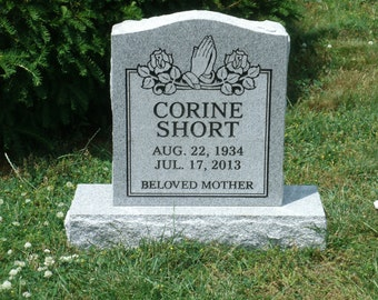 Cemetery Headstone- granite- 479.00 plus shipping multiple engraving options