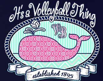 Volleyball WHALE - Volleyball T-shirt