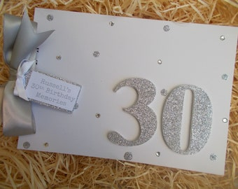 Personalised Milestone 30th Birthday Memory Scrapbook Photo Album Any Age 18th 21st 30th 40th 50th 60th 70th 80th