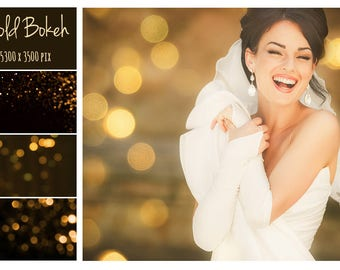 Gold Bokeh, Photoshop Overlay, Photo Layer, Photo editing, Textures overlays, Digital Backdrops, Light Overlay, Lens Flare, Toning Overlay