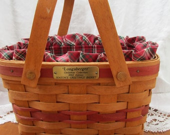 Longaberger Basket Christmas Collection 1992 Seasons Greeting