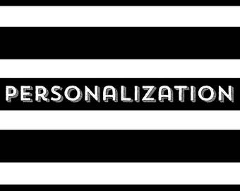 Clothing Personalization
