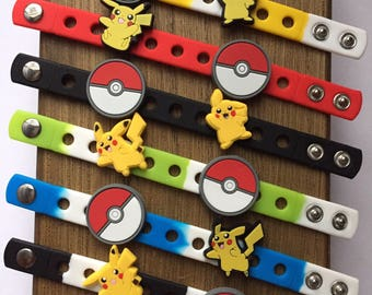 Poke Monster Charm Bracelets PARTY FAVORS