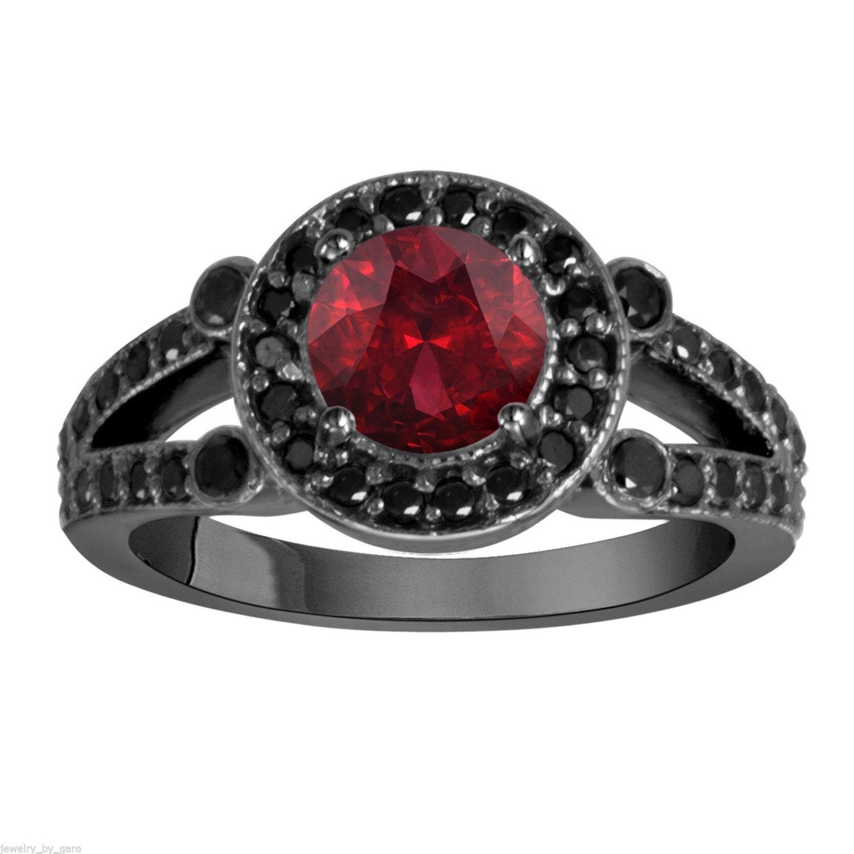 zoom - Red Wedding Rings