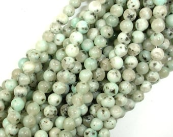 Sesame Jasper Beads, Kiwi Jasper, Round, 6mm (6.5 mm), 15.5 Inch, Full strand, Approx 61 beads, Hole 1 mm (402054002)