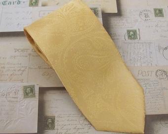 Necktie Dusty Gold Paisley Mens Tie