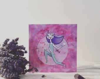 Cosmic Cat Lady Card