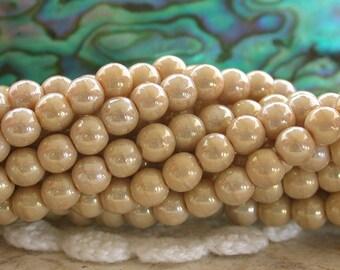 4mm Druks, Czech Glass Druks, Round Glass Beads, Druk Beads CZ-506
