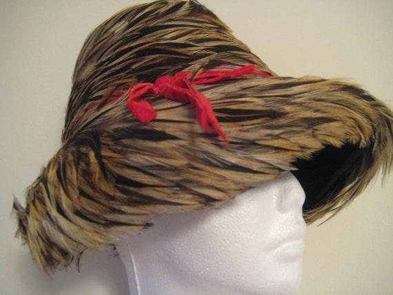 VTG Rari Original Feather Hat