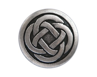 12 Celtic Knot 5/8 inch ( 15 mm ) Metal Buttons Silver Color