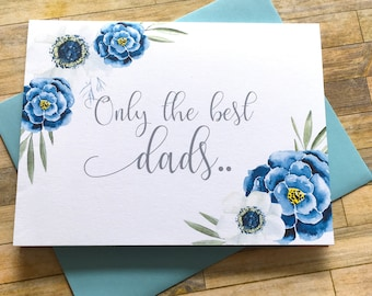 Pregnancy Reveal to Dad Card - Announcement Only the best Dads get Promoted to Grandpa - New Grandfather Card - Daughters Pregnancy Reveal