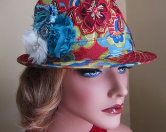 "Colorful Ladies ""Let's Party"" Fedora"