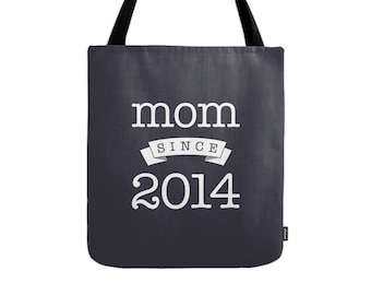 Mom since tote bag Personalized mom gift custom mom gift personalized gift for her custom gift for her canvas tote bag mom canvas tote bag