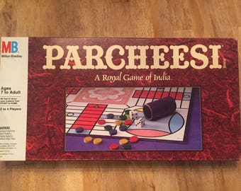 1989 Complete Parcheesi, A Royal Game of India by Milton Bradley No 4037
