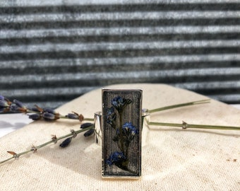 Forget me not ring (rectangle)