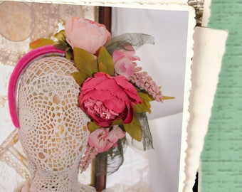 Floral Headpieces, Passionate Peonies