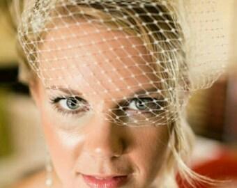 French Net Bridal Veils,Wedding Veil, Bridal Veil, Bandeau Veil, Small Veil, VIntage Style Veil, White Bridal Veil, Ivory Bridal Veil, Veils