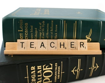 TEACHER Scrabble Letters Sign RECYCLED