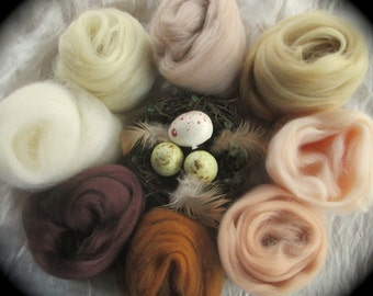 Skin Deep Collection Spinning & Felting Earth Tone Naturals 9 Colors SUPER FAST SHIPPING!