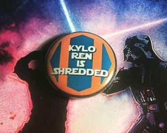 1 inch Undercover Ren Kylo Ren is Shredded Star Wars pinback button