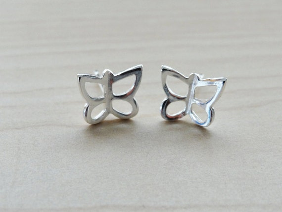 Silver Butterfly Studs - Sterling Silver